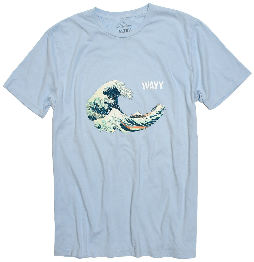 WAVY HOKUSAI POWDER BLUE TEE BY ALTRU APPAREL - EVERY*