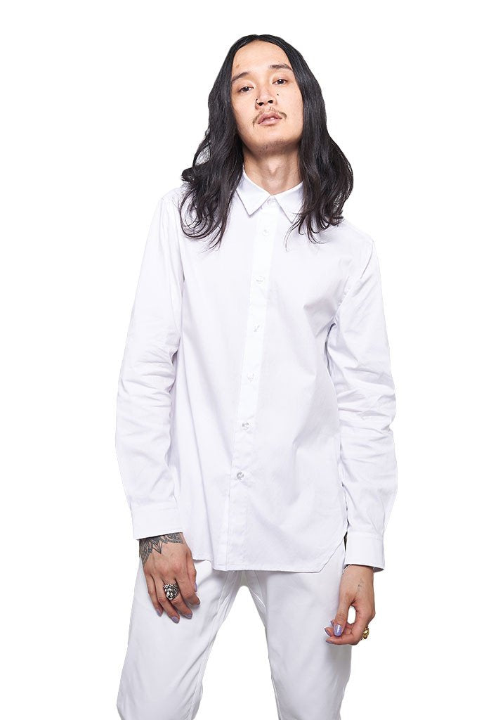 Archer The Fourth Perle Button Up Stretch Cotton Shirt In White - EVERY*