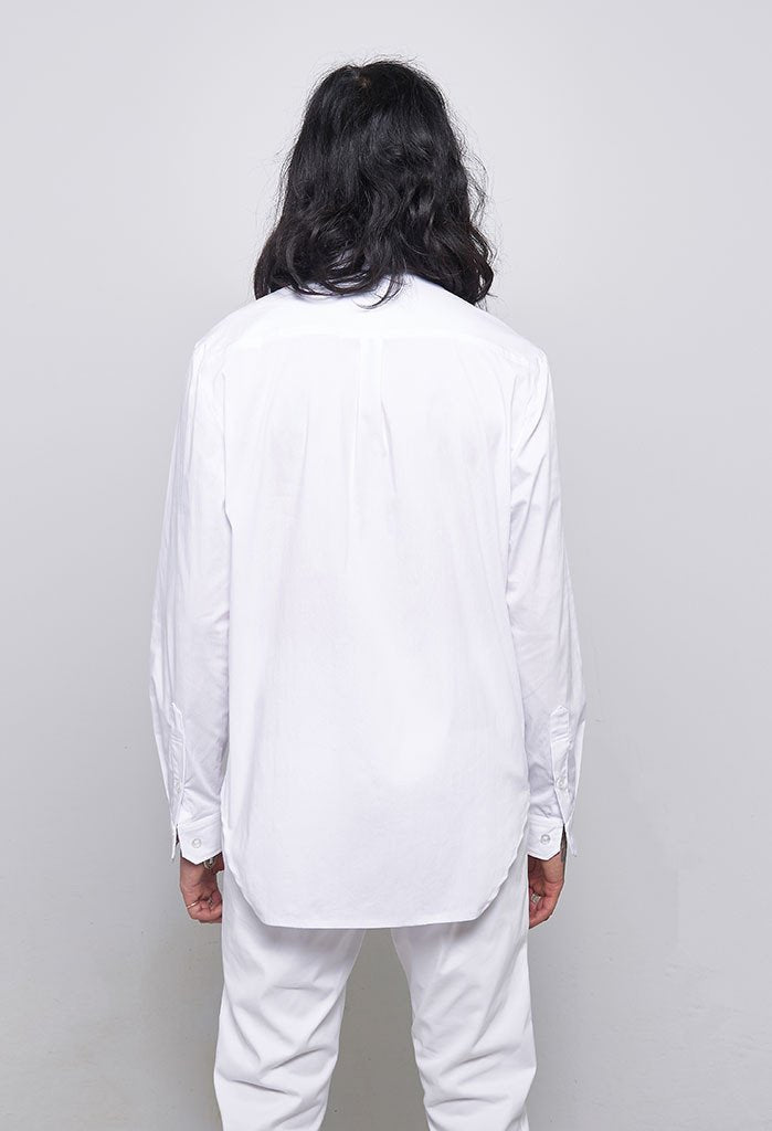 Archer The Fourth Perle Button Up Stretch Cotton Shirt In White