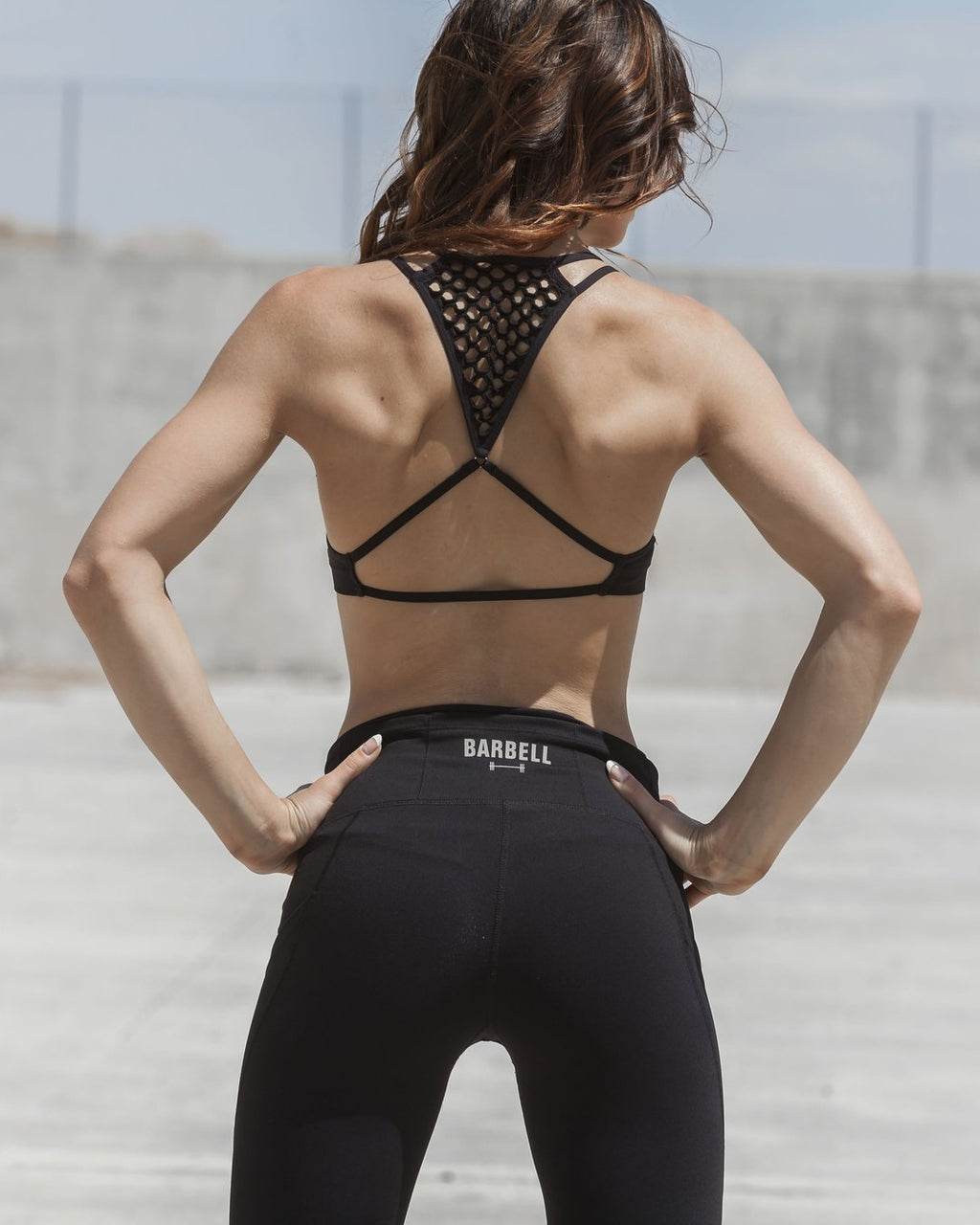 BARBELL APPAREL ADORE POCKET LEGGINGS - BLACK