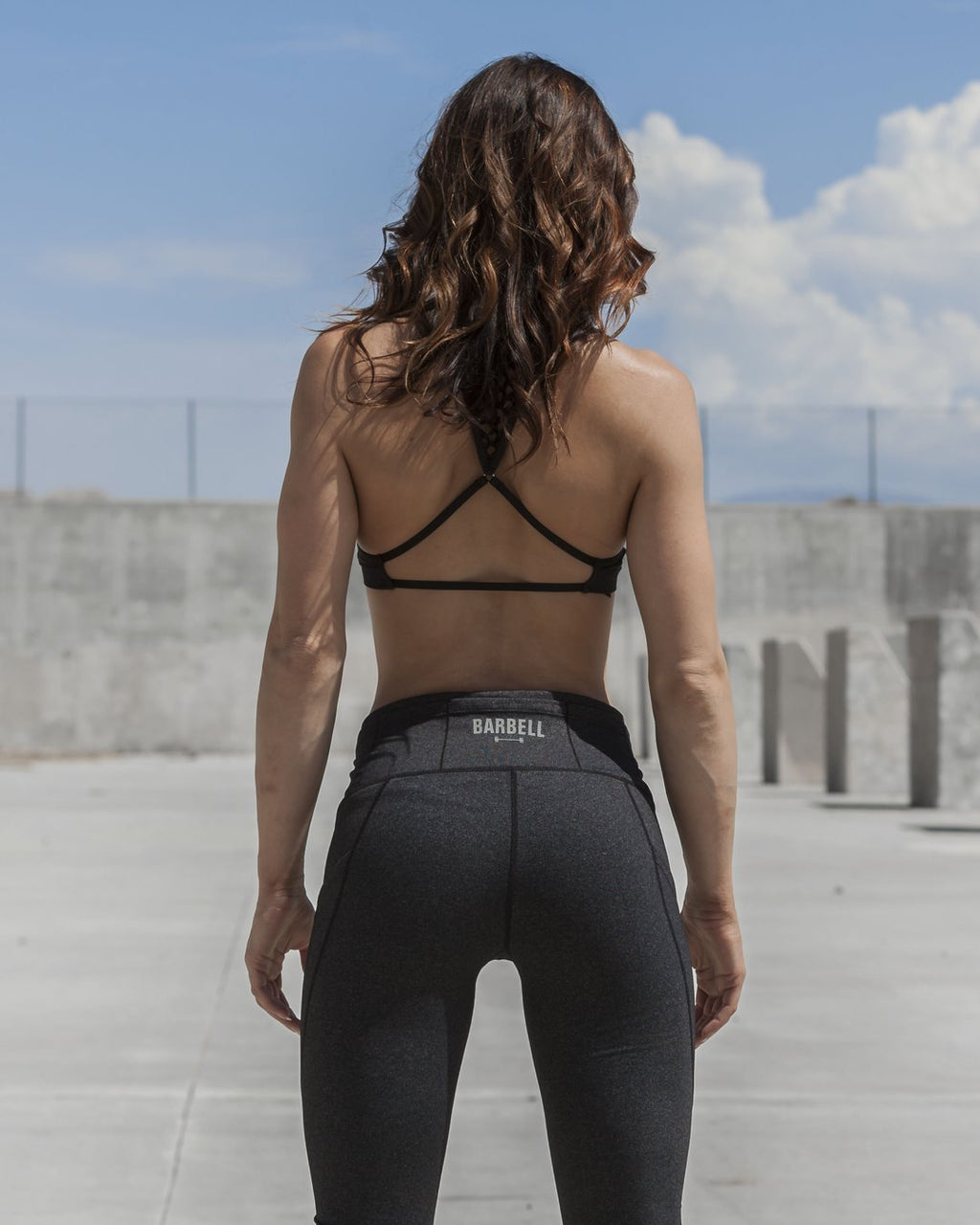 BARBELL APPAREL ADORE POCKET LEGGINGS - GREY