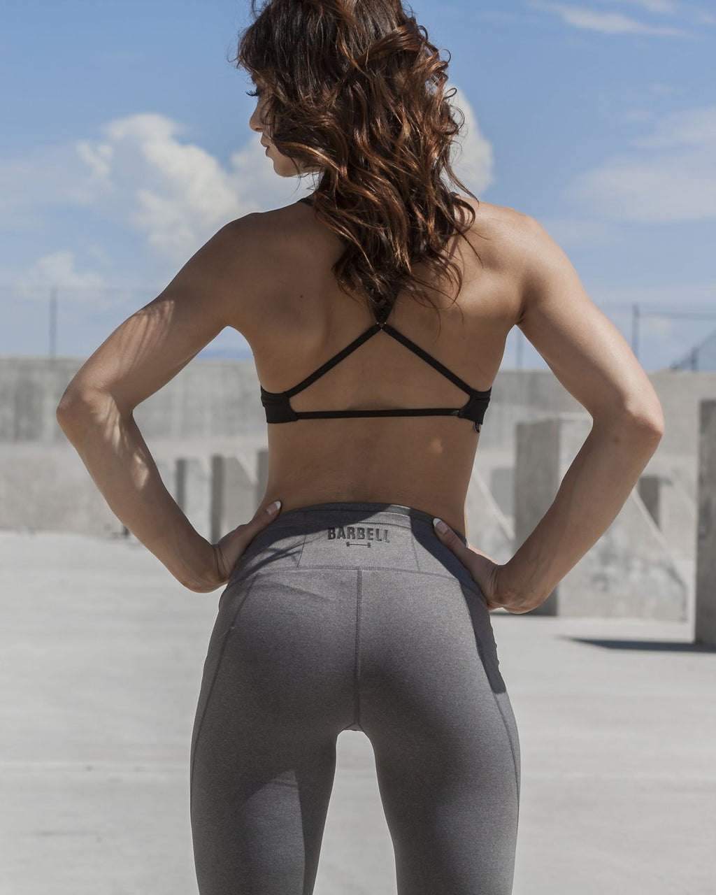 BARBELL APPAREL ADORE POCKET LEGGINGS - LIGHT GREY