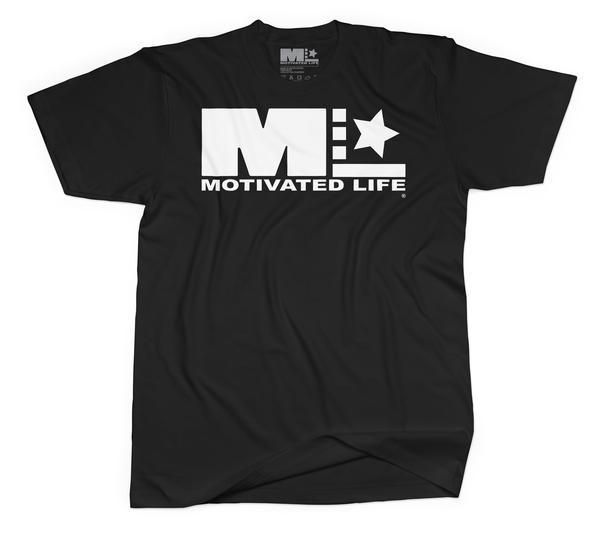 Men's Signature Tee - White on Black - EVERY*