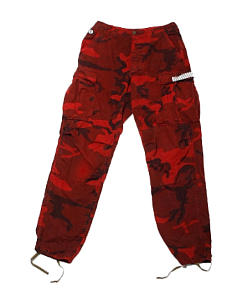 RCNSTRCT Women's Military Pant in Red Camo