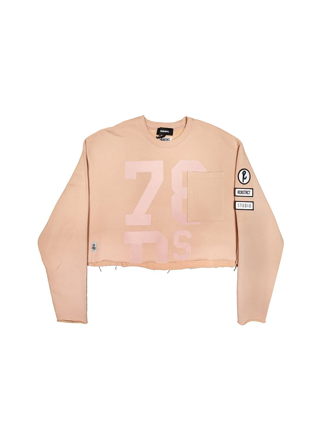 DIESEL X RCNSTRCT Cropped Jersey Sweatshirt - EVERY*