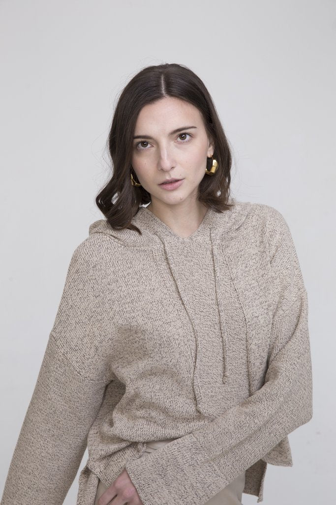 BENSON COTTON HOODED SWEATER - EVERY*