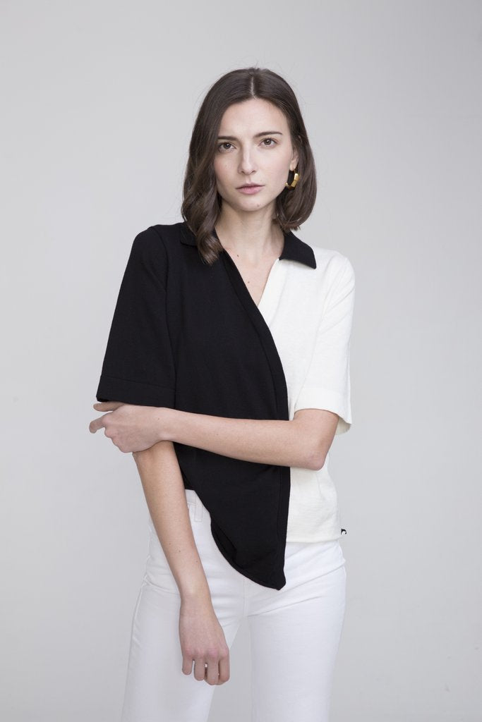 BIEN COTTON CASHMERE POLO COLLAR SWEATER - EVERY*