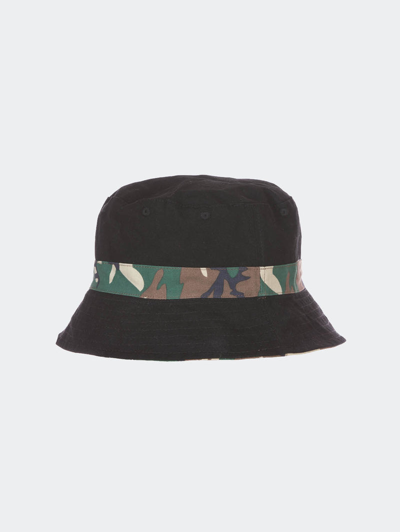 DMWU BUCKET HAT BLACK / CAMO - EVERY*