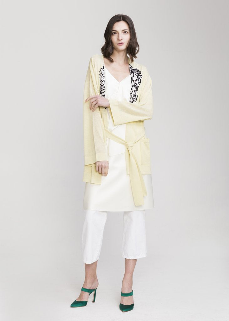 KENNEDY VISCOSE CARDIGAN YELLOW