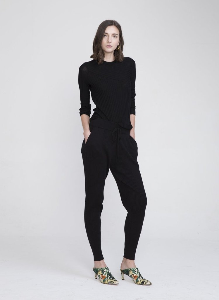 SHISHI COTTON CASHMERE KNITTED PANTS