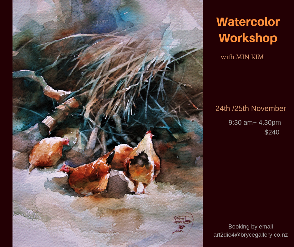Watercolour Workshop with Min Kim