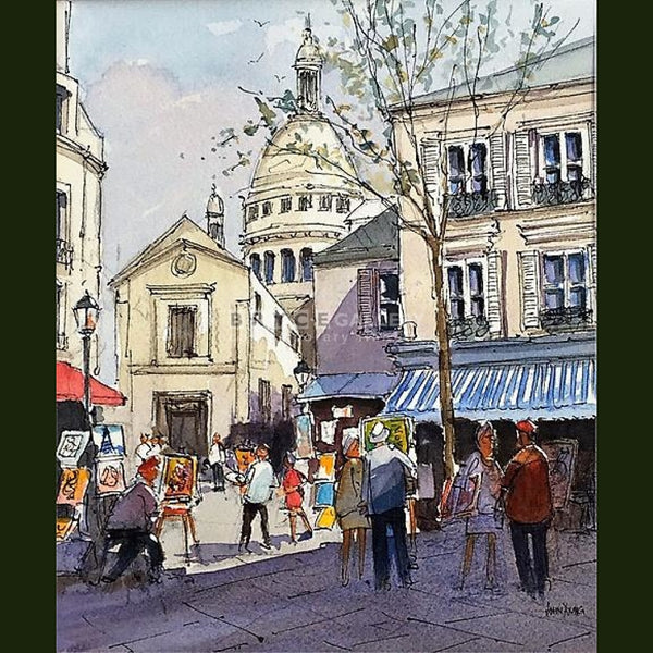 Artists At Montmatre Paris Paintings