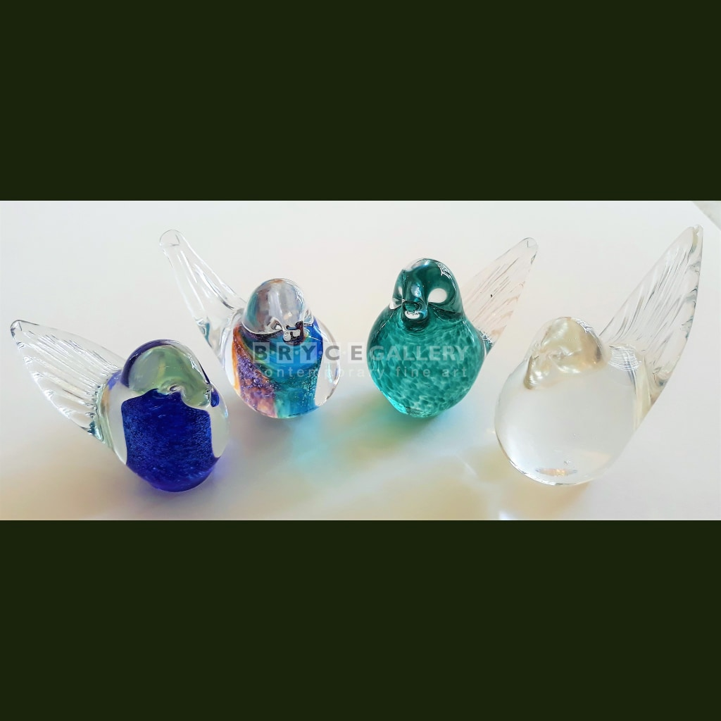 Baby Bird Clear Glass Art