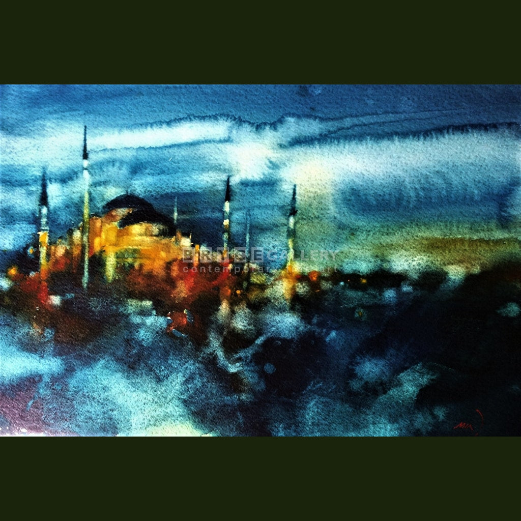 Blue Night In Istanbul Paintings