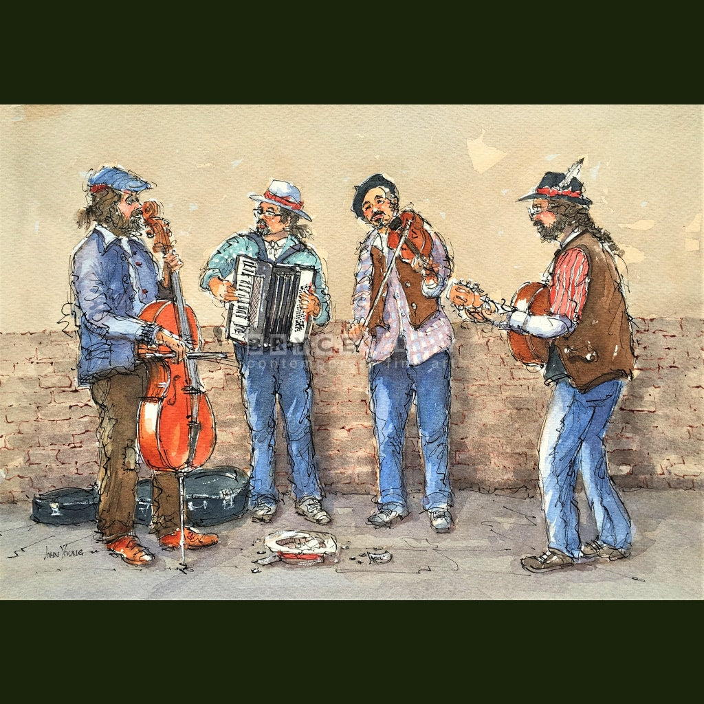 Busker Quartet Paintings