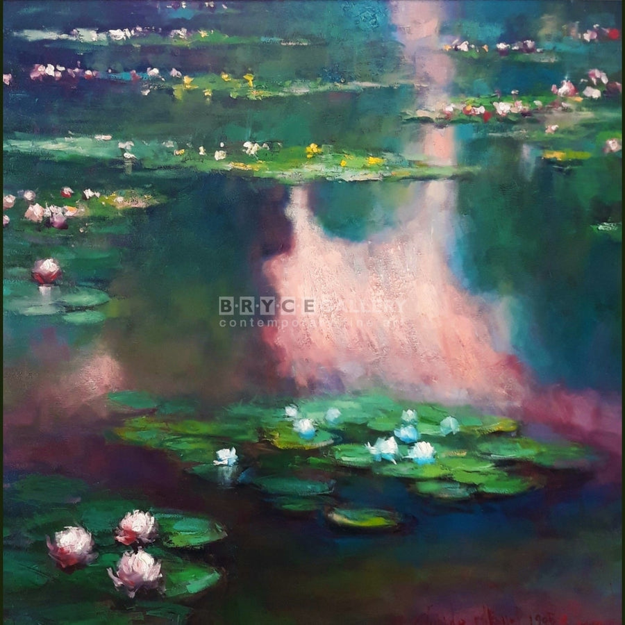 Claude Monet - Nympheas (1905 Water Lily) Painting