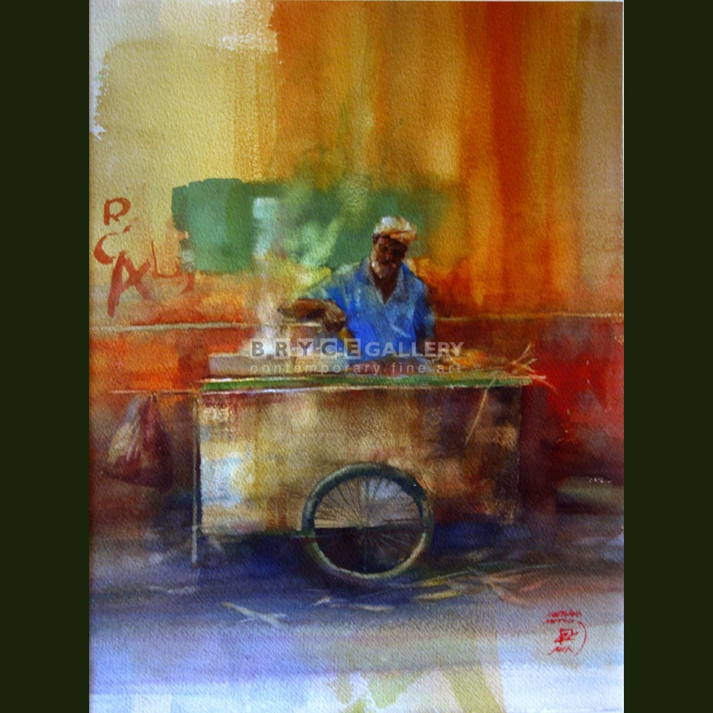 Corn Vendor Paintings