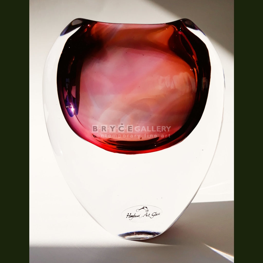 Eclipse Vase - Pink Purple Multi Coloured Glass Art