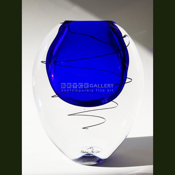 Festival Vase - Cobalt Blue Glass Art