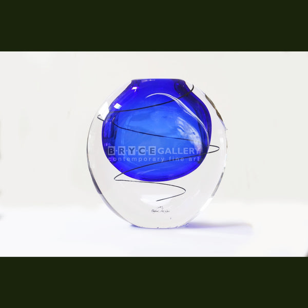 Festival Vase - Colbolt Blue Glass Art