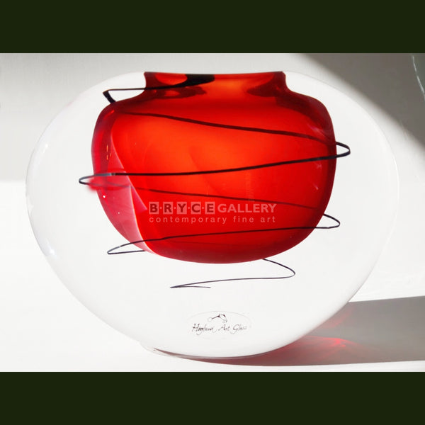 Festival Vase - Red Glass Art