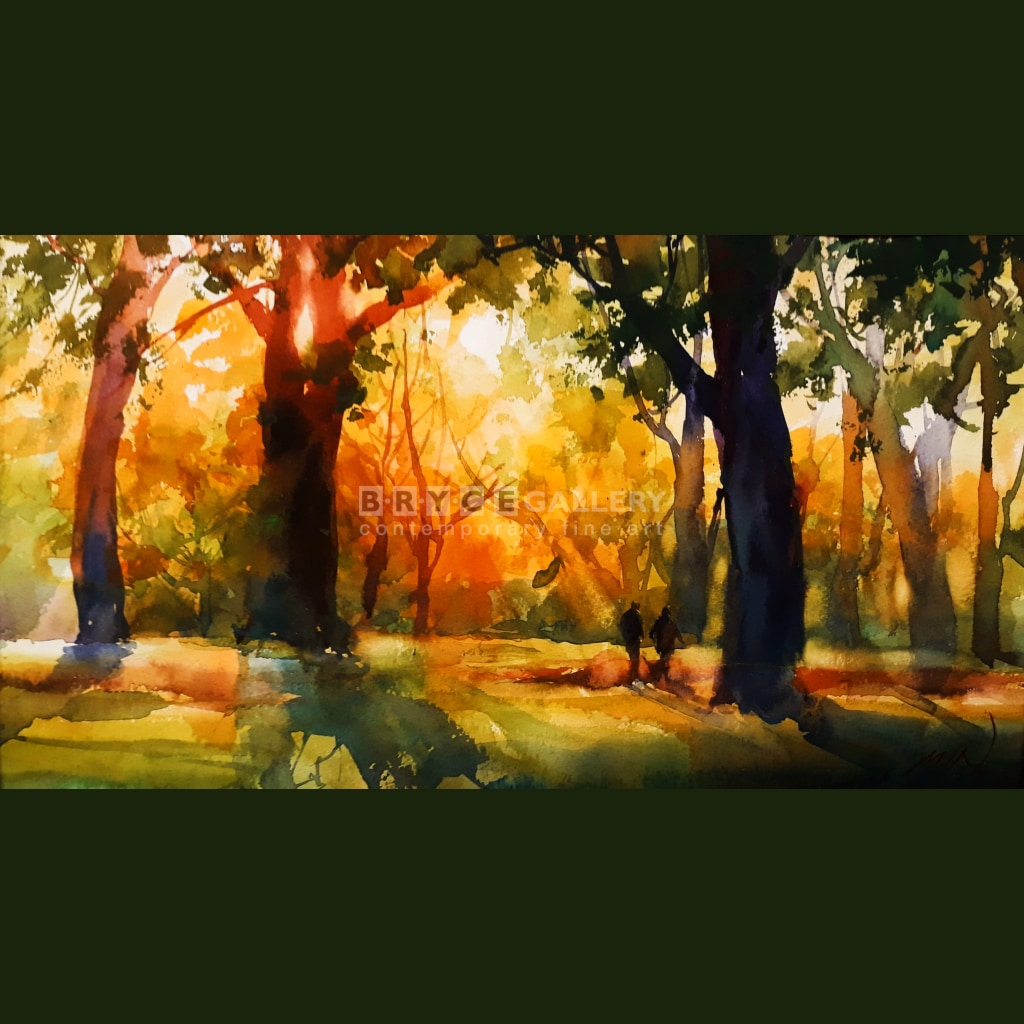 Golden Sunset In Hagley Park Paintings