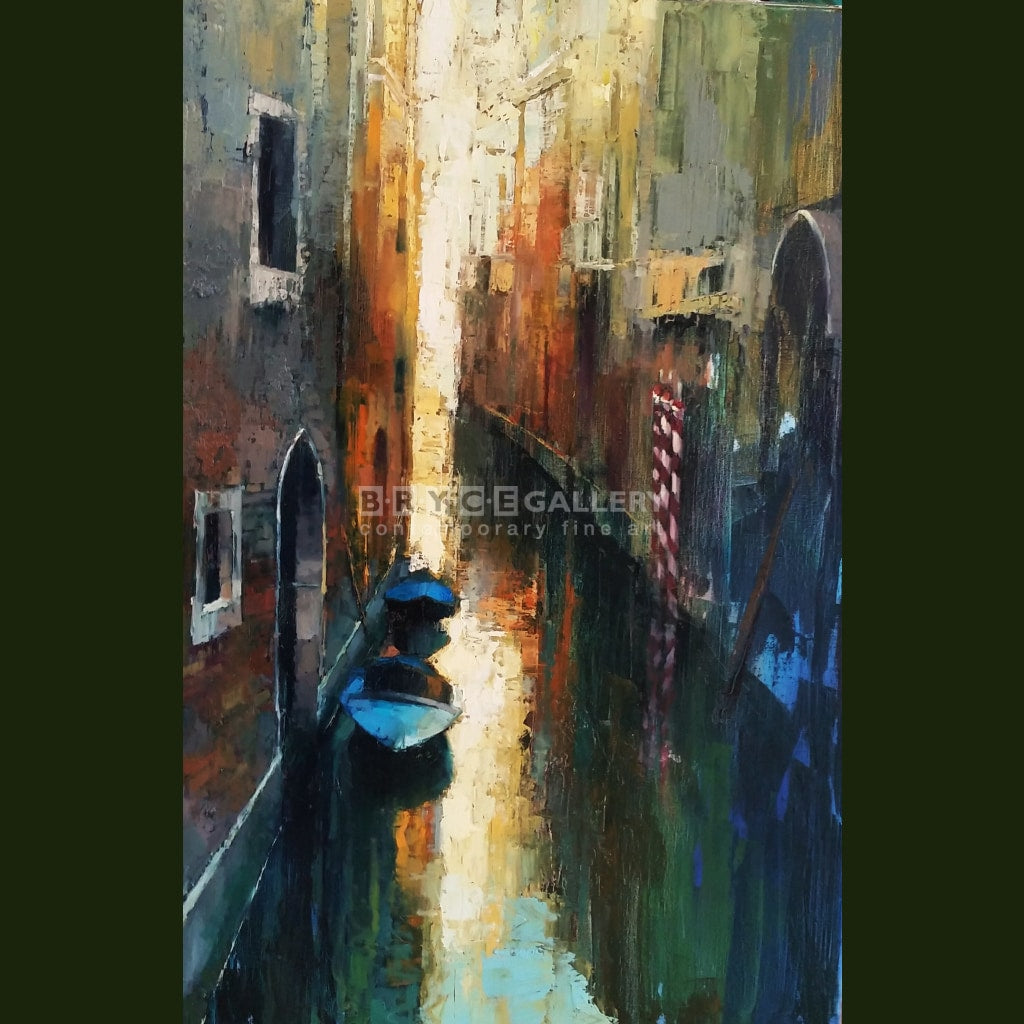 Golden Sunset Of Venice Canal Paintings