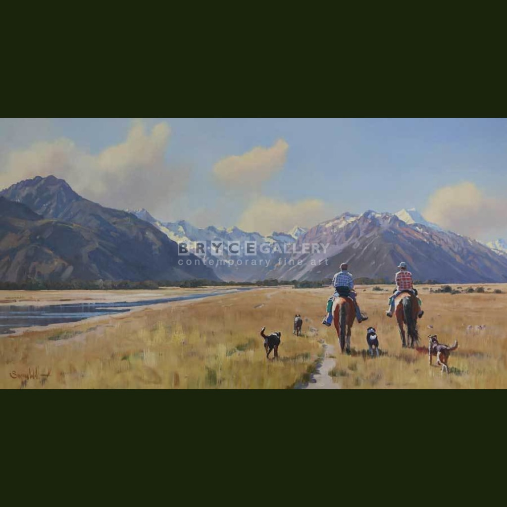 High Country Farmers And Dogs Paintings