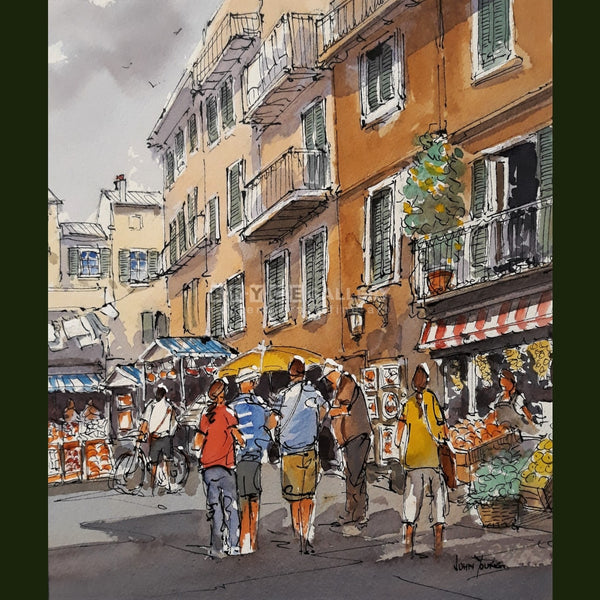 Levento Market Liquria Italy Paintings