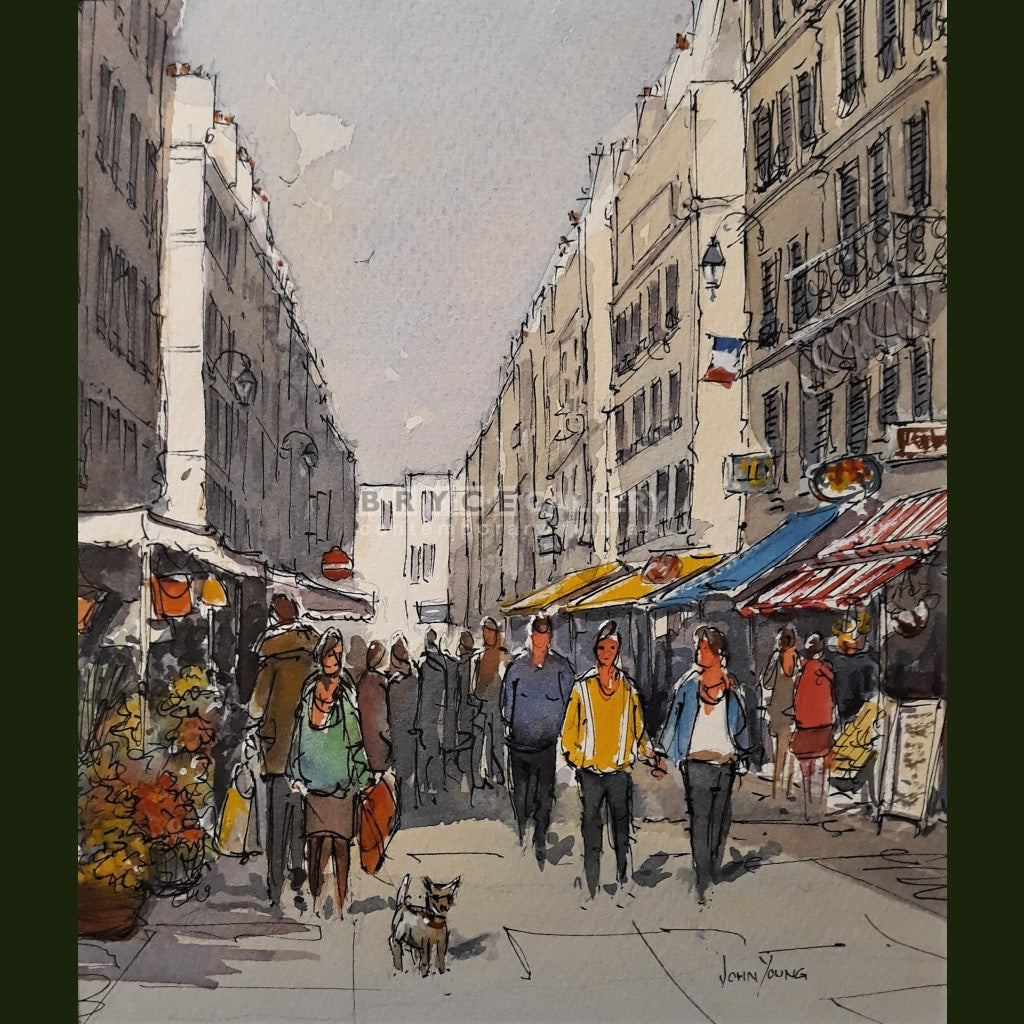 Market Day Paris - Marcue Rue Cler Paintings