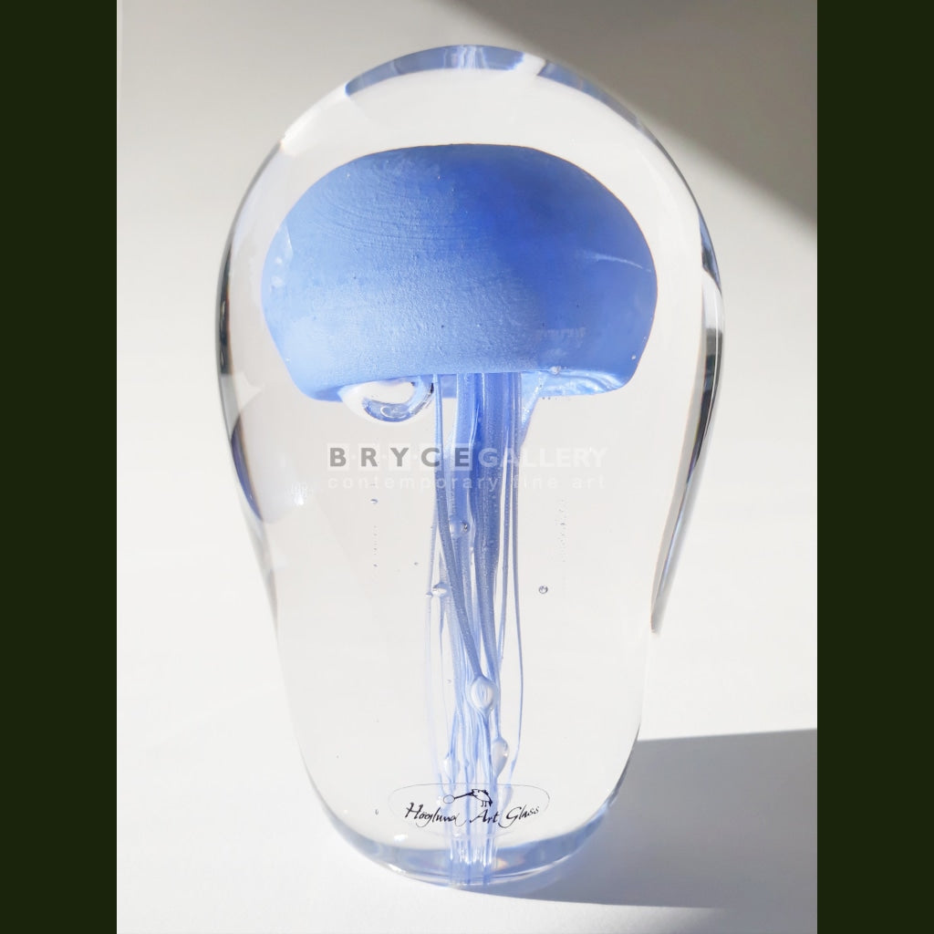 Paperweight Jellyfish Glass Art