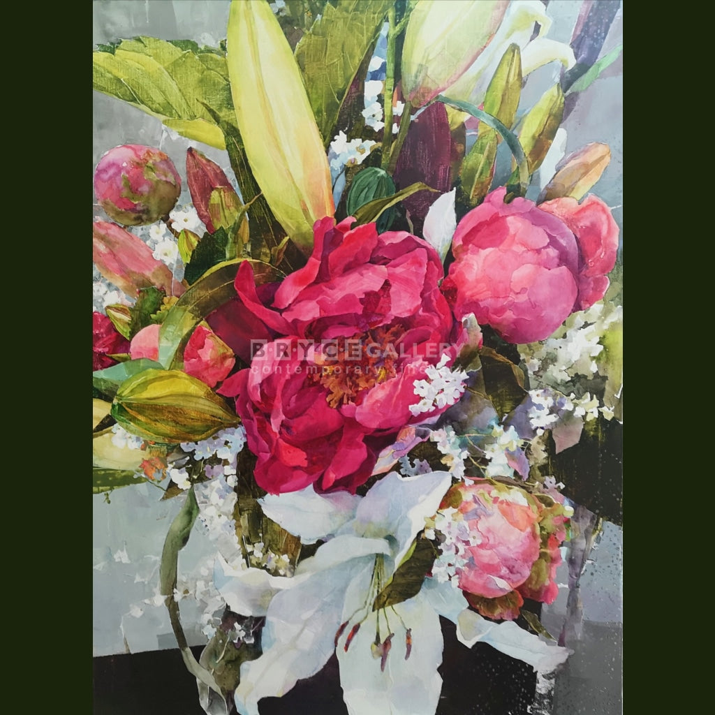 Peonies And Lillies Paintings