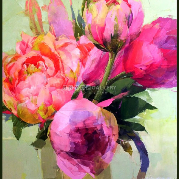 Peonies Mixed Media