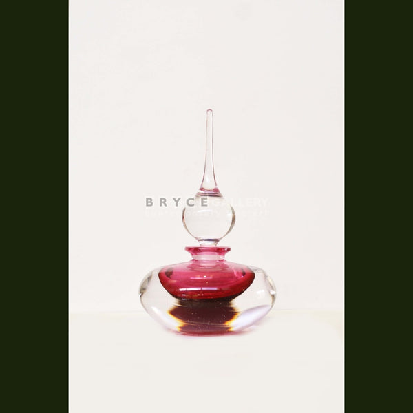 Perfume Bottle Pink Glass Art