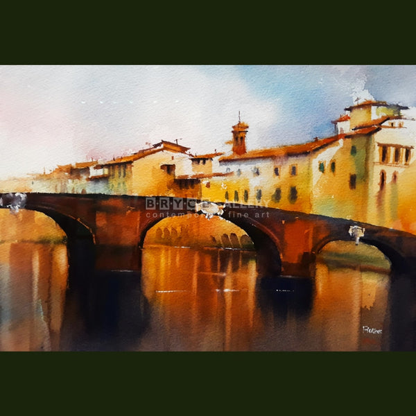 Ponte Santa Trinita Bridge Florence Paintings
