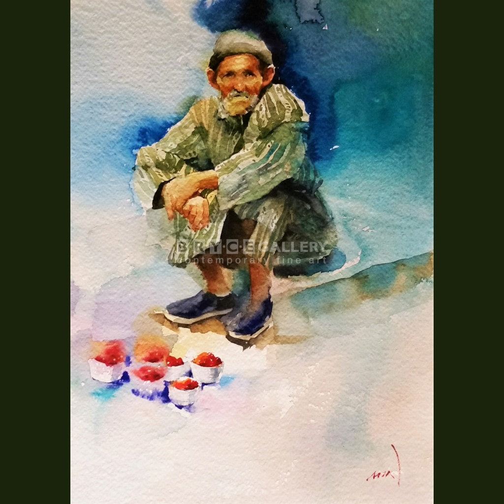 Raspberry Merchant Blue City In Morocco Paintings