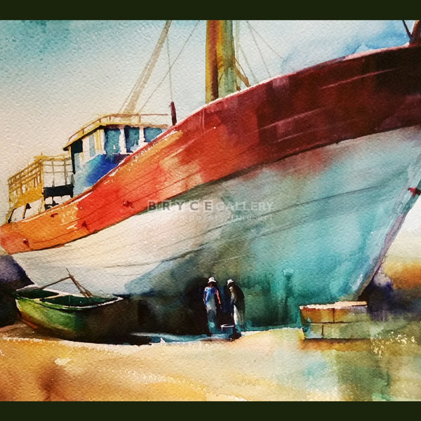Red Boat Morocco Paintings