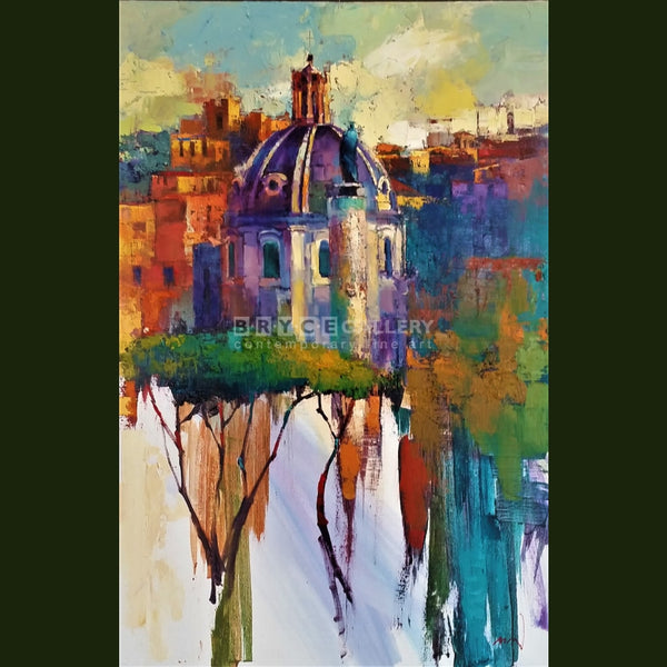 Sky Line Of Rome Paintings