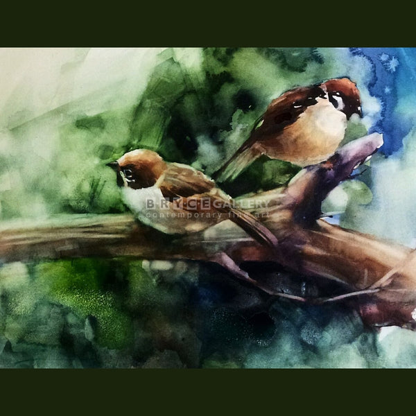 Sparrow Couple Paintings