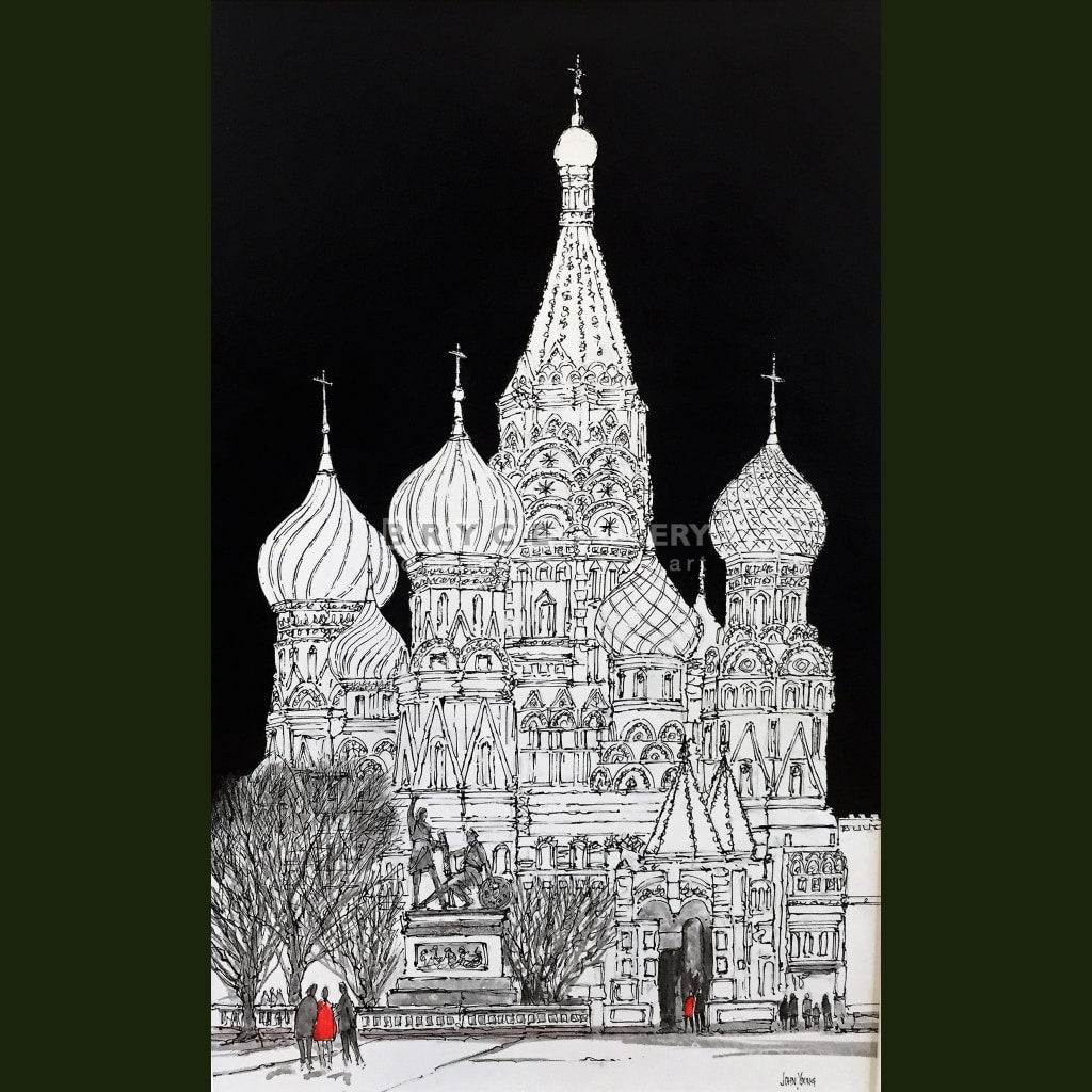 St Basils Red Square Moscow Paintings