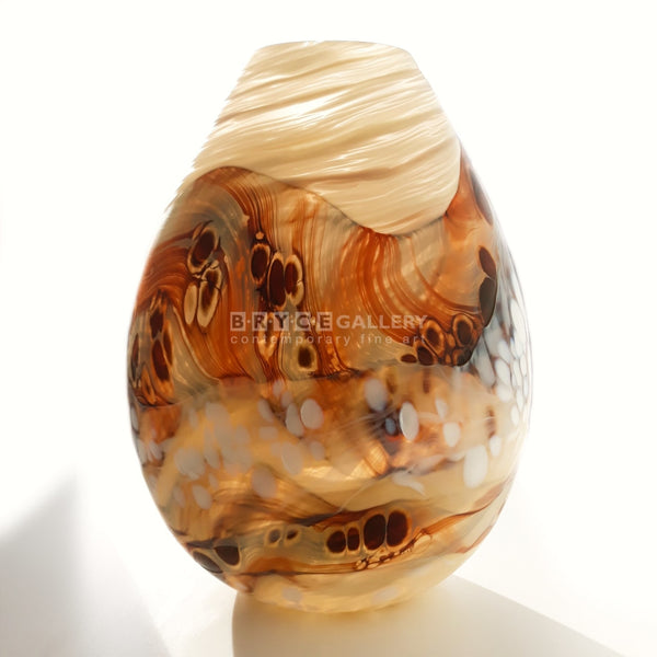 Steamy Landscape Medium Vase Glass Art