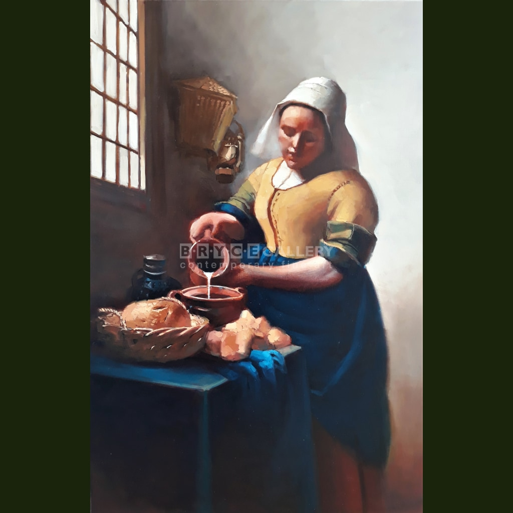 Study Of Milk Maid For Vermeer Paintings