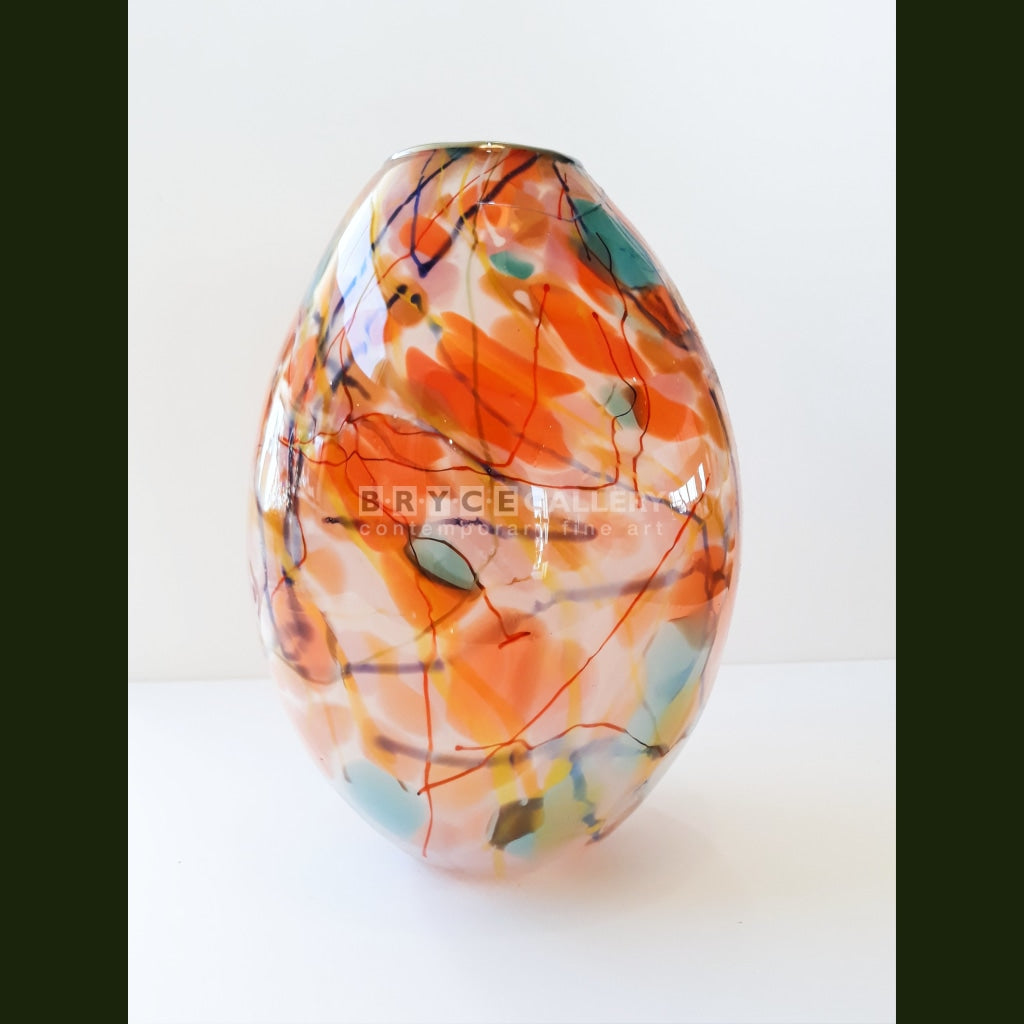 Tear Drop Vase - Coral Glass Art