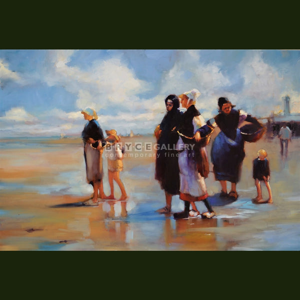 The Oyster Gatherers Of Cancale For Joaquin Sorrolla Paintings