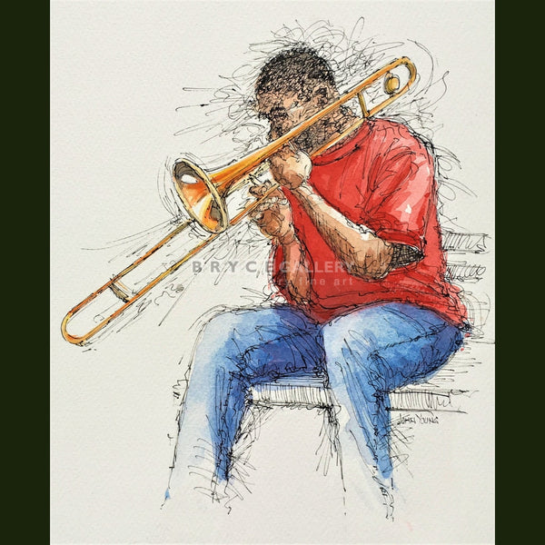 Trombone Busker Paintings