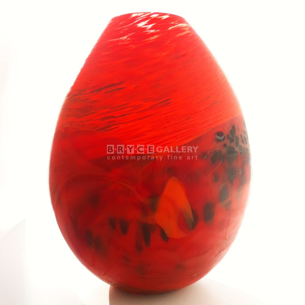 Volcano Series - Red Large Glass Art