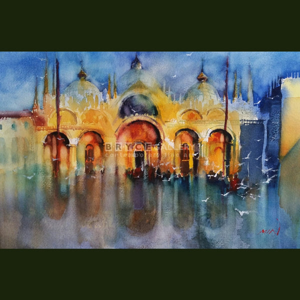 Wet San Marco Piazza Paintings