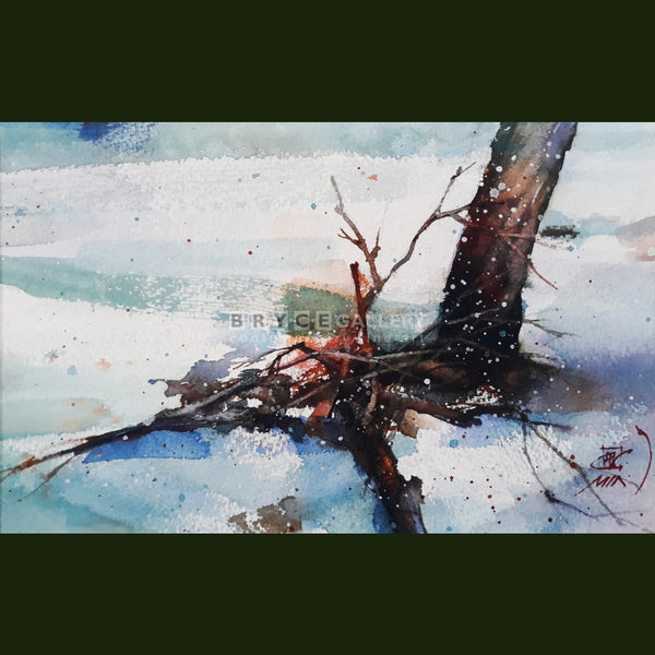 Winter Tree Chicago Paintings