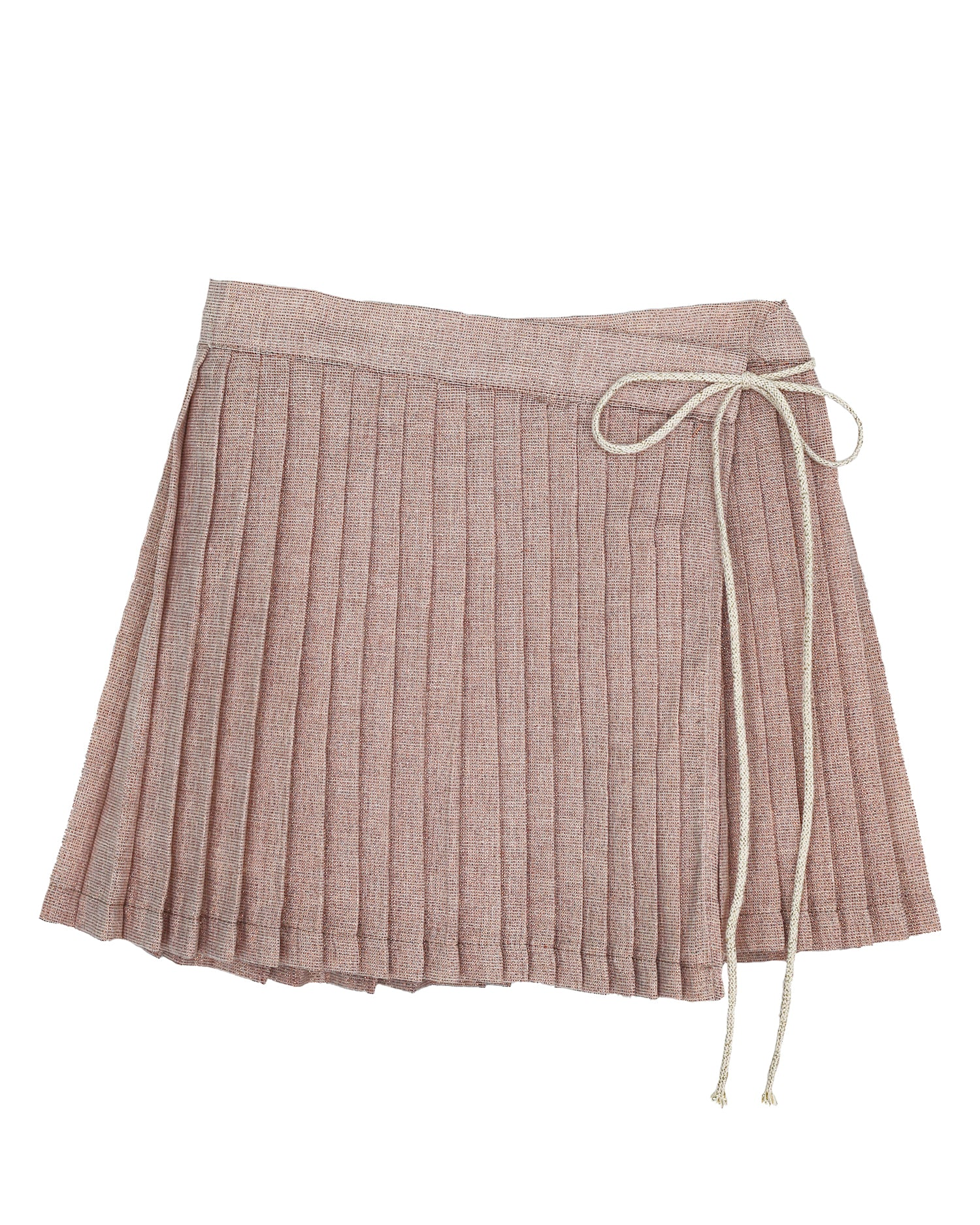 Bert Pleated Skirt in Rose Gold