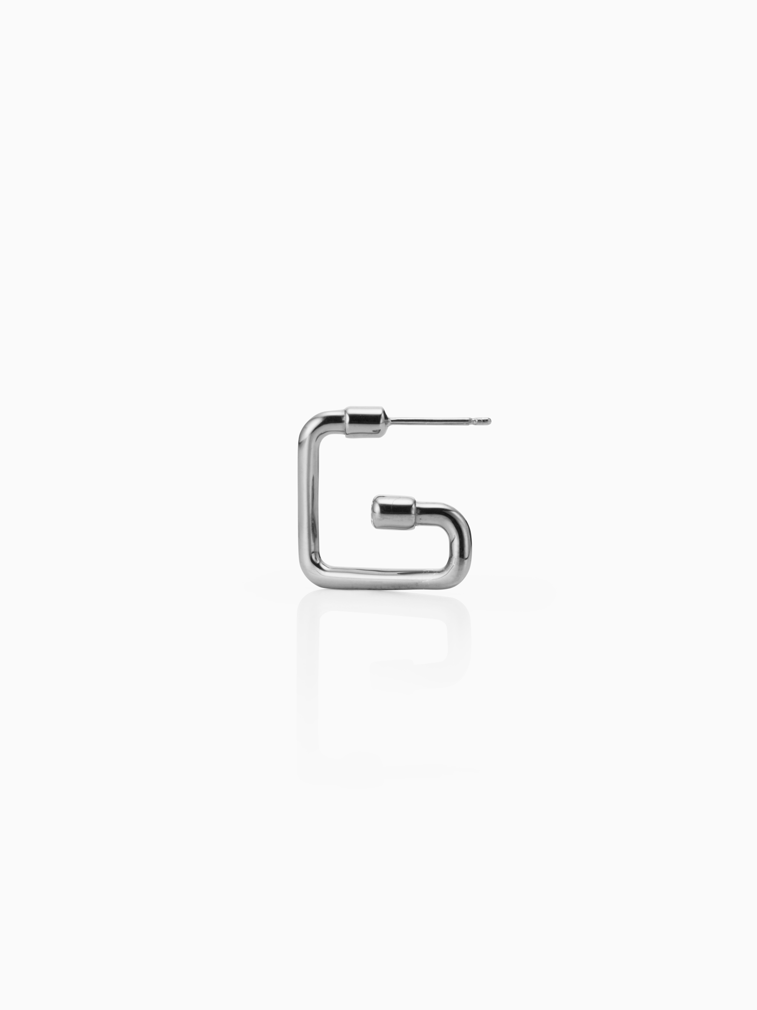 Pipe / Earring / Diamond / Silver